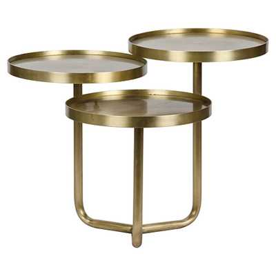 Noir Tre Metal Table - Brass - Candelabra