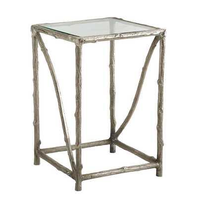 Illuminating Aluminum Side Table - Domino