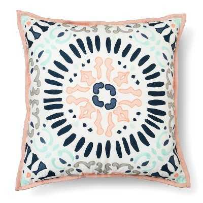 "Medallion Decorative Pillow Square Multicolor - Thresholdâ""¢ - 18""L x 18""W - Polyester fill - Target"