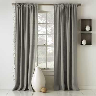"""Linen Cotton Curtain - Set of 2- 108""""l x 48""""w. - West Elm"""