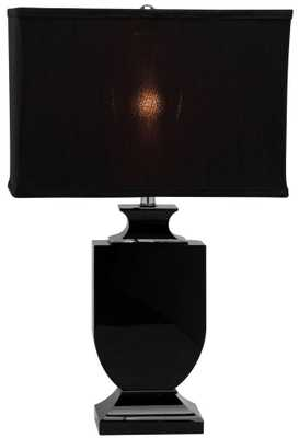 Black Crystal Urn Table Lamp - Domino