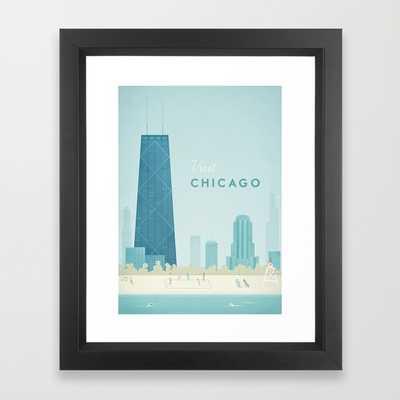 Vintage Chicago Travel Poster - Framed - Society6