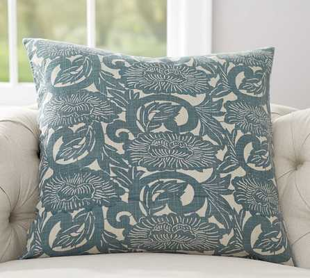 "Shibori Floral Print Pillow Cover - 26"" square - Insert sold separately - Pottery Barn"