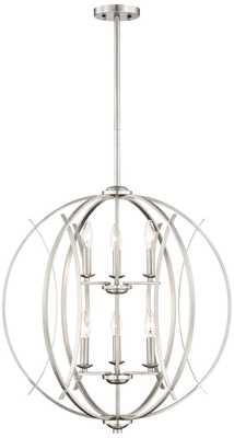 Brushed Nickel Spherical 6-Light Pendant Light - Lamps Plus