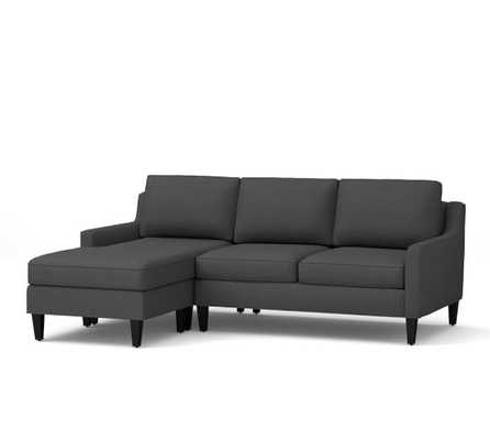 Beverly Upholstered Sofa with Reversible Chaise Sectional- Right Chaise - Pottery Barn