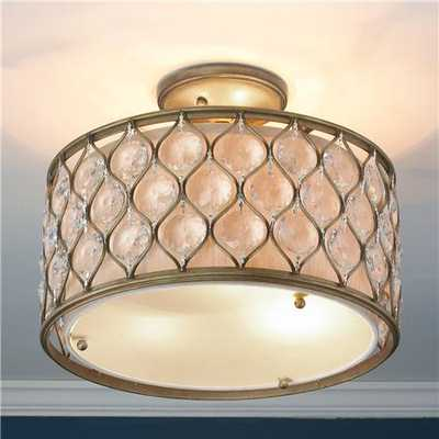 Hourglass and Crystal Drum Ceiling Light - Shades of Light