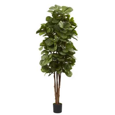 Nearly Natural Fiddle Leaf Fig Tree in Pot - Wayfair