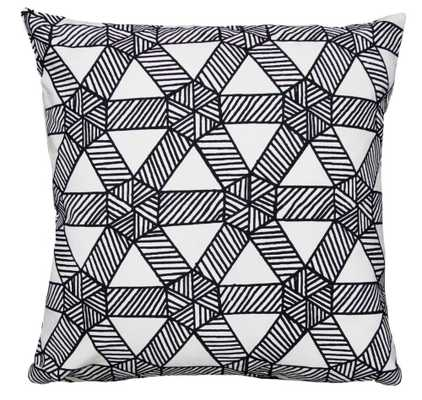 Monument in Deep Navy Pillow - Domino
