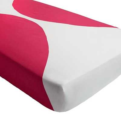 Color Pop Pink Crib Fitted Sheet - Land of Nod