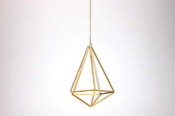 Design 7 - Hanging Brass Prism Geometric Ornament - Etsy