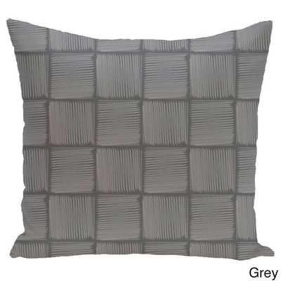 26 x 26-inch Basketweave Geometric Print Pillow - Overstock
