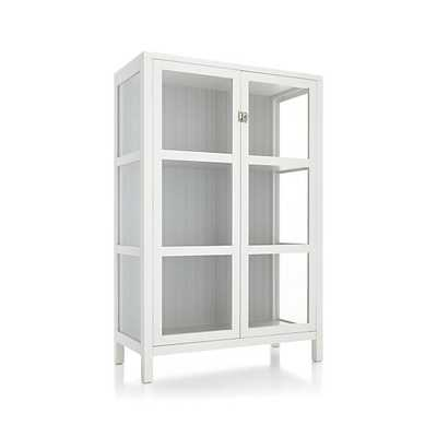 Kraal White Cabinet - Crate and Barrel