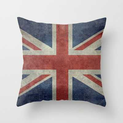 England's Union Jack Pillow - insert included - Society6