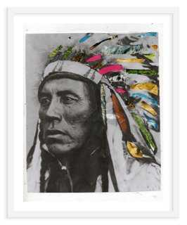 "Ben Giles, Headdress - 21"" x 24"" - Framed - One Kings Lane"