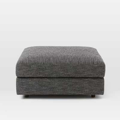 Urban Ottoman - Heathered Tweed, Charcoal - West Elm