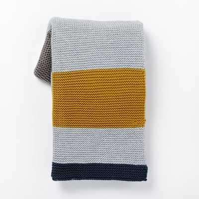 Multi Stripe Knit Throw - West Elm