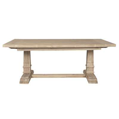 Hudson Extension Dining Table - Stone Wash - Wayfair