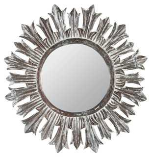 Newton Wall Mirror, Distressed Whitewash - One Kings Lane