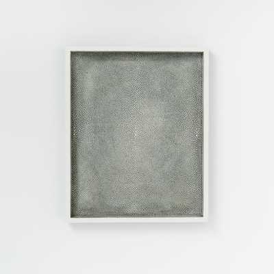 Faux Shagreen Tray - Charcoal - West Elm