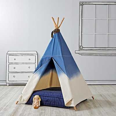 A Teepee To Call Your Own (Dip Dye Denim) - Land of Nod