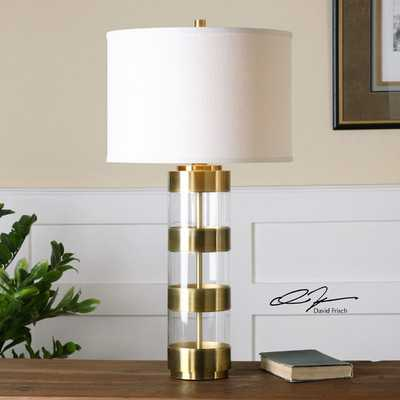"Angora 31"" H Table Lamp with Drum Shade - Wayfair"