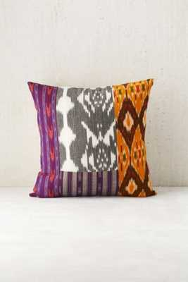 """4040 Locust Taka Patched Pillow - 16""""sq., Orange - Urban Outfitters"""