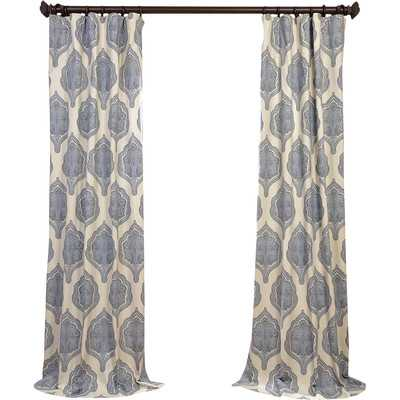 Arabesque Twill Single Curtain Panel - Wayfair