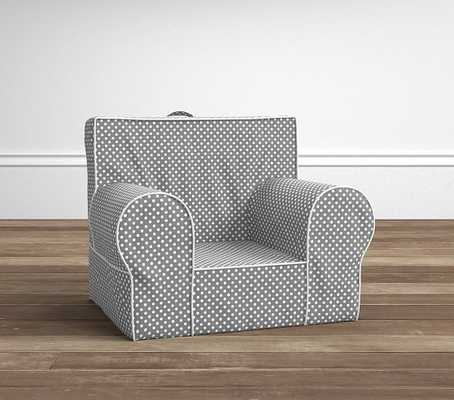 Gray Mini Dot Anywhere Chair - Pottery Barn Kids