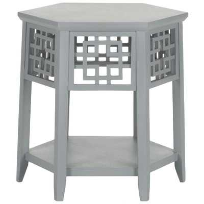 Zelda End Table - Pearl Blue Grey - Wayfair