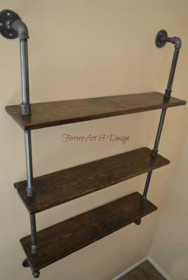 Steampunk Shelf, Industrial shelves, Wall Shelves - Etsy