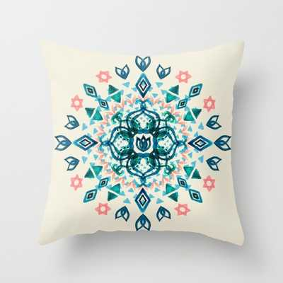 "THROW PILLOW/ INDOOR COVER (20"" X 20"") FAUX DOWN INSERT - Society6"