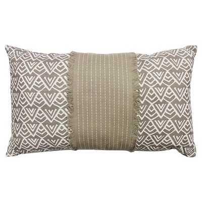 "Thresholdâ""¢ Oblong Mountain Print Pillow Brown - Target"
