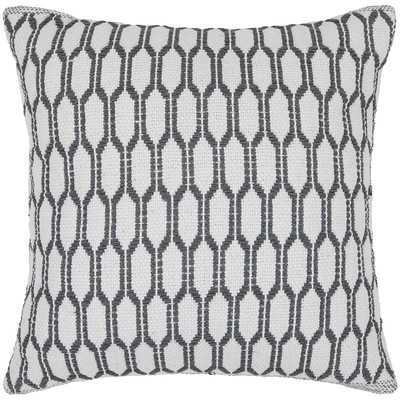 "Textured Contemporary Cotton Throw Pillow - 22"" H x 22"" W - Down fill - Wayfair"