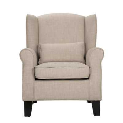 Schiller Arm Chair - Beige - Wayfair