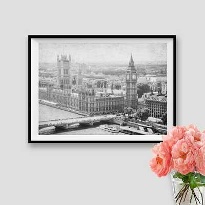London Big Ben Print Panorama London Black and White - Etsy