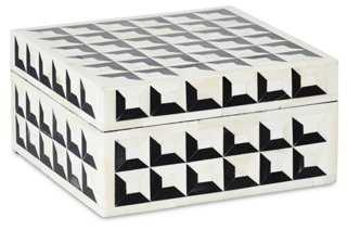 "8"" Geometric Bone-Inlay Box - One Kings Lane"