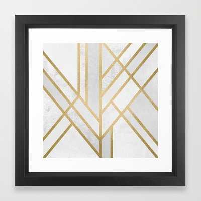 "Art Deco Geometry 2- 12""x12""- Framed - Society6"