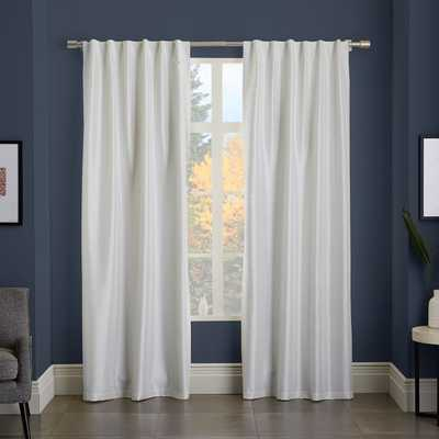 "Greenwich Curtain + Blackout Liner - Ivory - 48""x124"" - West Elm"