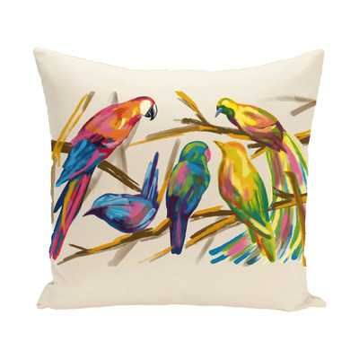Happy Birds Throw Pillow - Wayfair