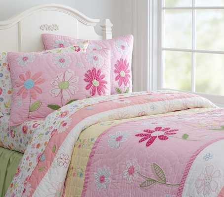 Daisy Garden Quilted Bedding - Quilt - Pottery Barn Kids