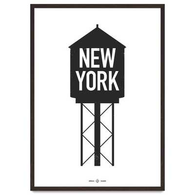 "Urban Water Tower, An icon of New York, Modern-12""x16""-Unfrmed - Etsy"