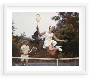 "Tom Kelley, Tennis Couple- 24"" x 20""- Framed - One Kings Lane"