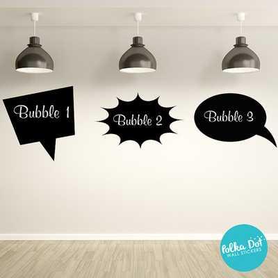 Chalkboard Talk Bubbles Wall Decals - Etsy