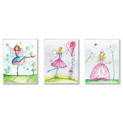 Princess Fairies Triptych 3 Piece Graphic Art Plaque Set - Wayfair