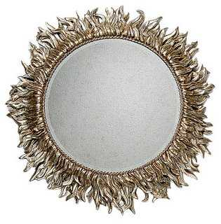 Sunburst Wall Mirror, Silver Leaf - One Kings Lane