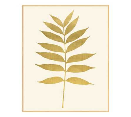 "Gold Leaf Fern Print 1 - 17.5""x22"" - Framed - Pottery Barn"