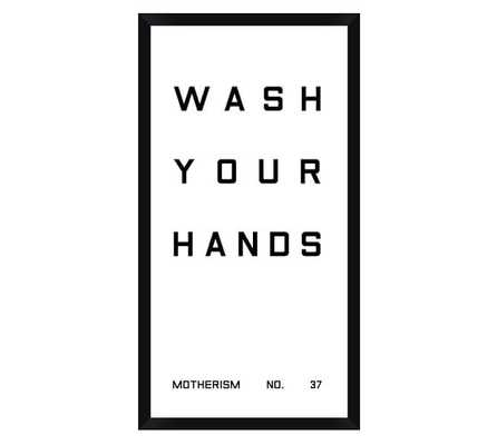 Bathroom Sign Prints - Wash Your Hands - Pottery Barn