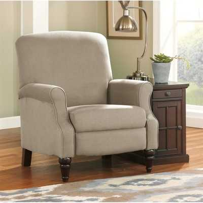 Ashley Placido Fabric High Leg Recliner in Khaki - cymax.com