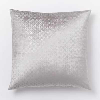 """Diamond Luster Velvet Pillow Cover -20""""sq-no insert - West Elm"""