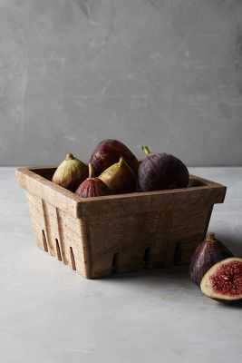 White Stripe Berry Basket - Anthropologie